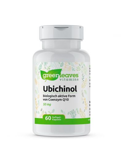 Green Leaves Ubiquinol UBICHINOL (Biologisch aktive Coenzym Q10 ) 50 MG 60 softgels