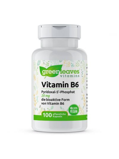 Green Leaves VITAMIN B6 PYRIDOXAL-5-PHOSPHAT, 20 MG 100 Kapseln