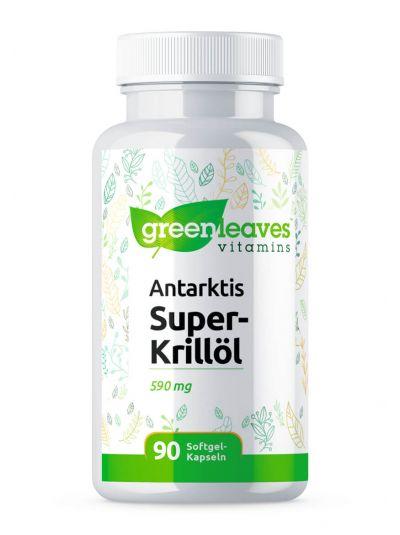 GREEN LEAVES ANTARKTIS SUPER KRILLÖL 590 MG 90 SOFTGEL-KAPSELN