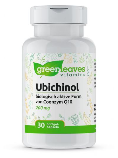 Green Leaves Ubichinol 200 mg 30 Softgel Kapseln