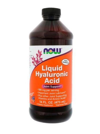 Now Foods Flüssige Hyaluronsäure, Beerengeschmack, 100 mg, 473 ml