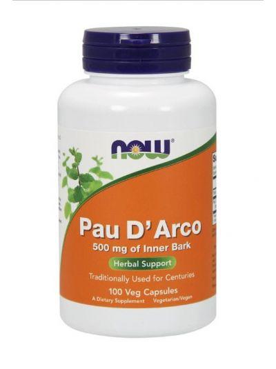 Now Foods Pau D' Arco 500 mg 100 Kapseln