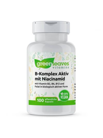 Green Leaves Vitamins VITAMIN-B-KOMPLEX MIT NIACINAMID 50 mg 100 Kaps