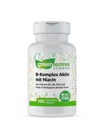 Green Leaves Vitamins VITAMIN B kOMPLEX m. Niacin 50 mg 100 Kapseln