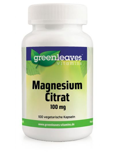 Green Leaves Magnesiumcitrat 100 mg 100 Kapseln