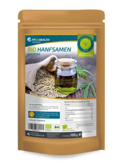 FP24 Health Bio Hanfsamen geschält 1kg - Ökologischer Anbau - EU Hanf 1000g