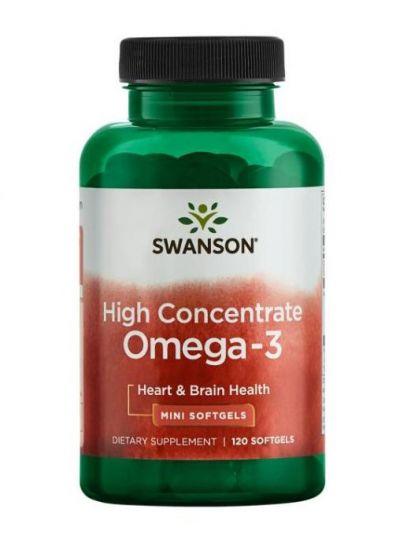 Swanson Hochkonzentriertes Omega-3 120 Kapseln