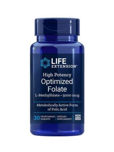 Life Extension Hochwirksame optimiertes Folat 5000 mcg 30 vegetarische Tabletten