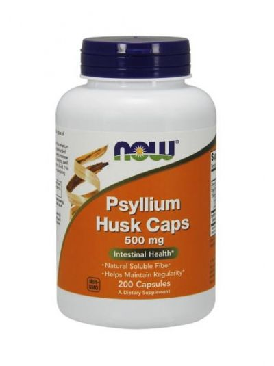 Now Foods Psyllium Husk 500 mg 200 Kapseln
