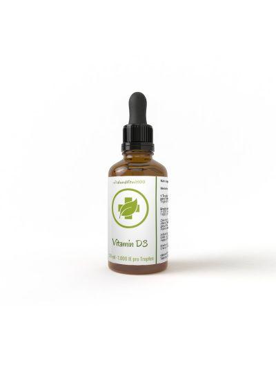 Vitalundfitmit100 Vitamin D3 - Flüssig (27.000IE pro ml / 1.000IE pro Tropfen) 50 ml