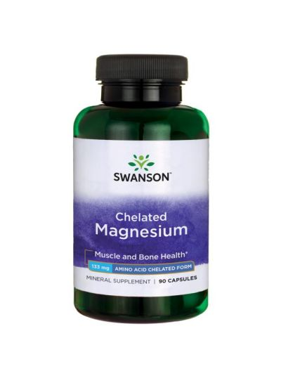 SWANSON Magnesium chelatisiert / Elementares 133Mg 90 KAPS