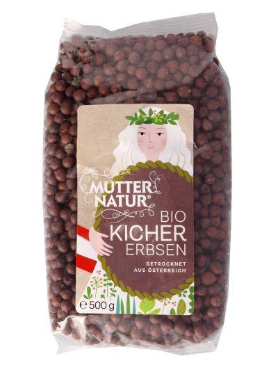 Mutter Natur Bio braune Kichererbsen Hülsenfrüchte 500g