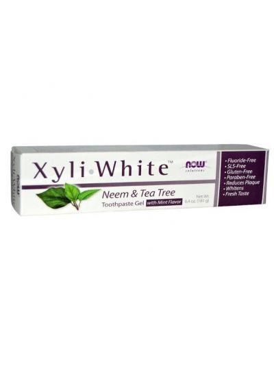 Now Foods XyliWhite Zahngel Niem und Teebaum 181 g