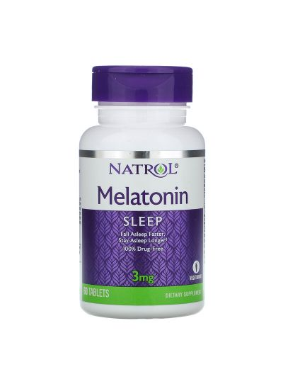 Natrol, Melatonin, 3 mg, 60 Tabletten
