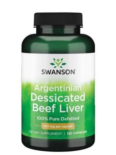 Swanson Rinder Leber 100% rein, entfettet und getrocknete 120 Kapseln