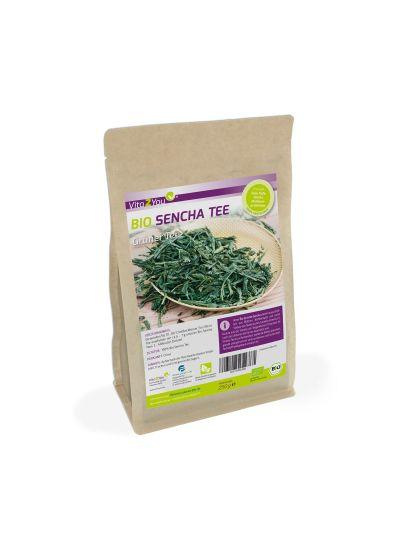 Vita2You Bio Sencha Grüner Tee (Green Tea) - Vegan und ökologisch - Lose Blätter Tee 250g