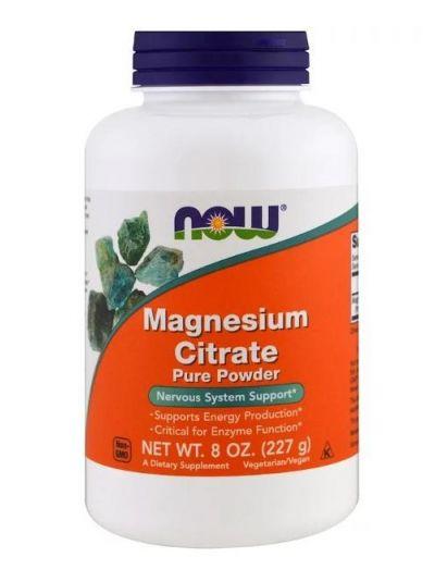 Now Foods Magnesium Citrat reines Pulver 227 g