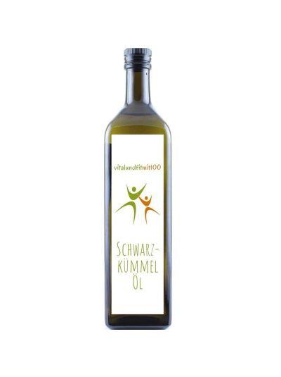 Vitalundfitmit100 Schwarzkümmelöl (Nigella sativa, kaltgepresst, Ägypten) 250 ml