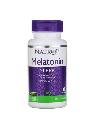 Natrol, Melatonin, 1 mg, 180 Tabletten