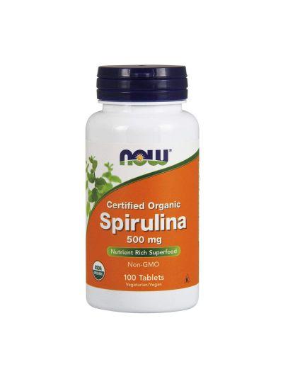 Now Foods BIO Zertifiziert Spirulina 500 mg 100 Tabletten