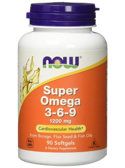 Now Foods Super Omega 3 - 6 - 9 1200 mg 90 Gelkapseln