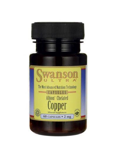 Swanson Kupfer Chelatisiert / Elementares 2 mg 60 Kapseln