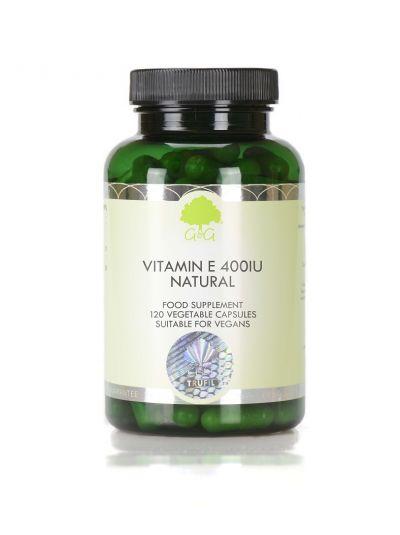 G&G VITAMINS Natürliches Vitamin E 400iu - 120 Kapseln