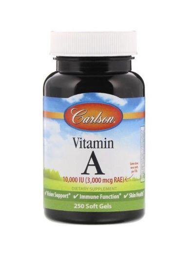 Carlson Labs Vitamin A 10,000 IU  250 Soft Gels