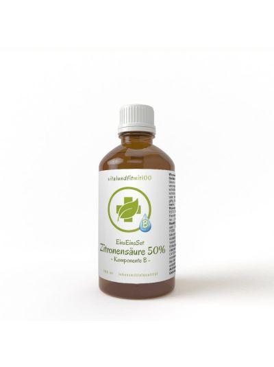 Vitalundfitmit100  Zitronensäure-Lösung 50 % Braunglas 100 ml