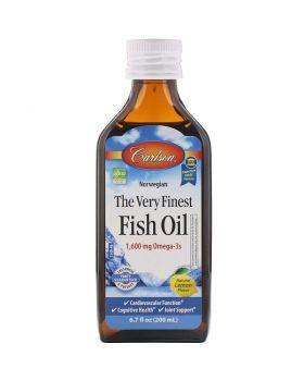 Carlson Labs, Norwegisches Fischöl, Das allerfeinste, Zitronengeschmack, 200 ML