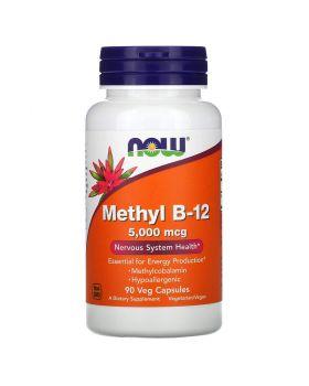 Now Foods, Methyl B-12, 5.000 mcg, 90 Gemüsekapseln