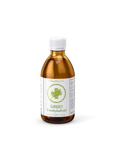 Vitalundfitmit100 DMSO Dimethylsulfoxid 99,9 % (Ph. Eur.) in Braunglas 250 ml
