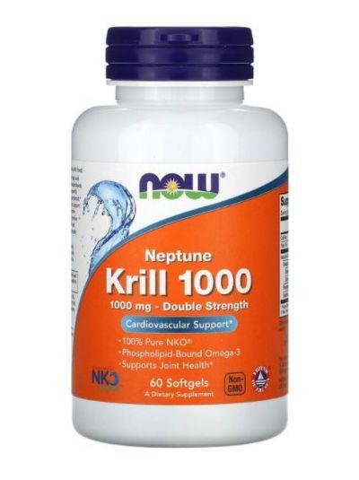 Now Foods, Neptune Krillöl 1000, Doppelte Stärke, 1,000 mg, 60 Softgels