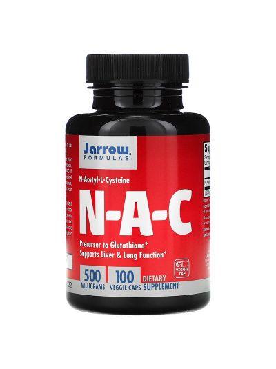 Jarrow Formulas N-A-C N-Acetyl-L-Cystein 500 mg, 100 vegetarische Kapseln