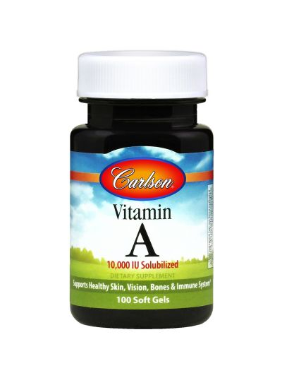 CARLSON LABS VITAMIN A 10,000 IU solubilized 100 SOFT GELS