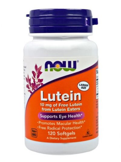 Now Foods Lutein 10 mg 120 Softgel Kapseln