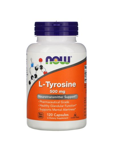 Now Foods, L-Tyrosin, 500 mg, 120 Kapseln