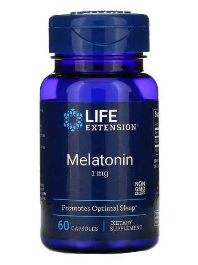 Life Extension, Melatonin, 1 mg, 60 Kapseln