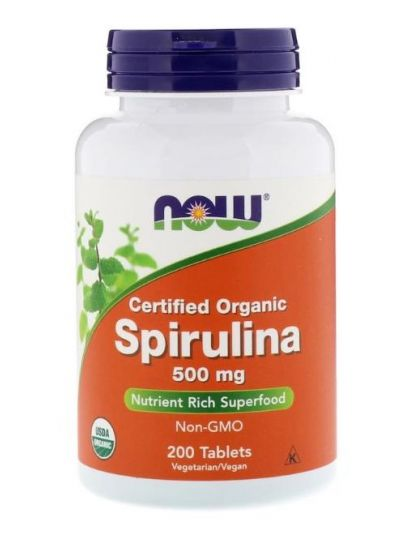 Now Foods Zertifiziertes Bio-Spirulina 500 mg 200 Tabletten