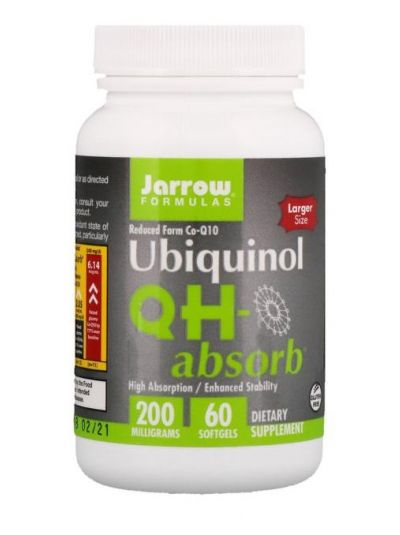 Jarrow Formulas, Ubiquinol QH-Absorb, 200 mg, 60 Softgelkapseln