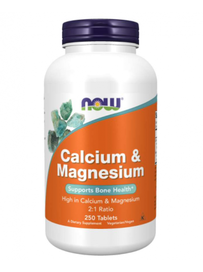 Now Foods Kalzium & Magnesium 2:1 ratio 250 Tabletten