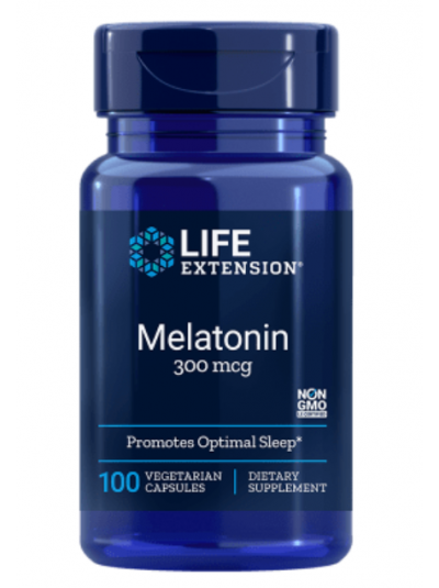 Life Extension Melatonin, 300 ΜG, 100 VEGETARISCHE KAPSELN