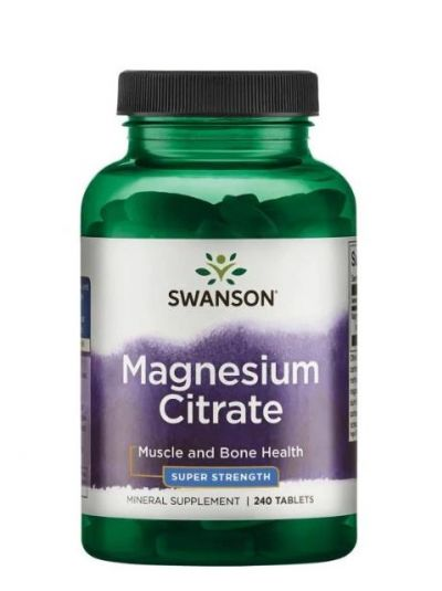 Swanson Magnesium Citrate - Super Strength 225mg - 240 Tabletten