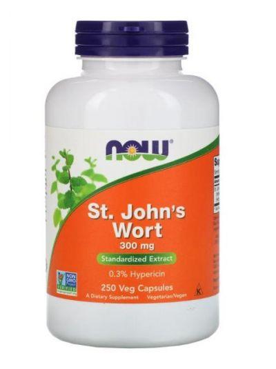 NOW Foods  St. John's Wort (Johanniskraut), 300mg, 250 vegetabilische Kapseln