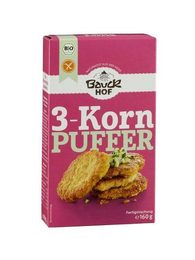 Bauckhof Bio 3-Korn Puffer, glutenfrei 160g