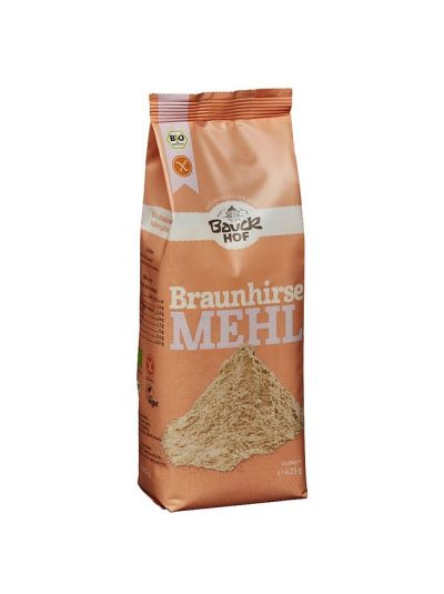 Bauck Hof Naturkost Braunhirse Mehl Vollkorn glutenfrei 425g