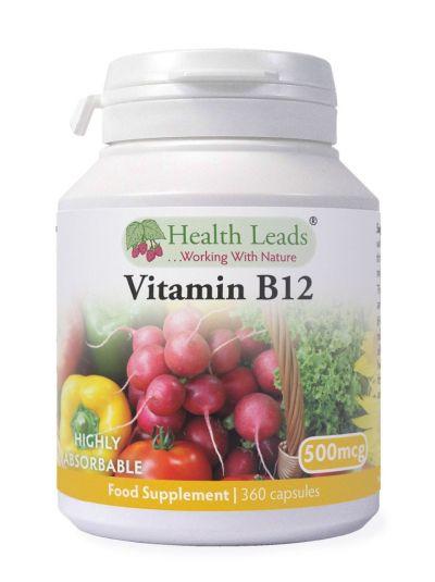 Health Leads Vitamin B12 500mcg x 360 Kapseln