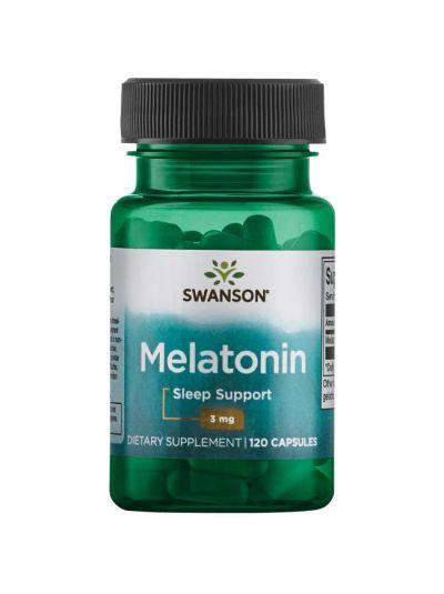 Swanson Melatonin 3 mg 120 Kapseln