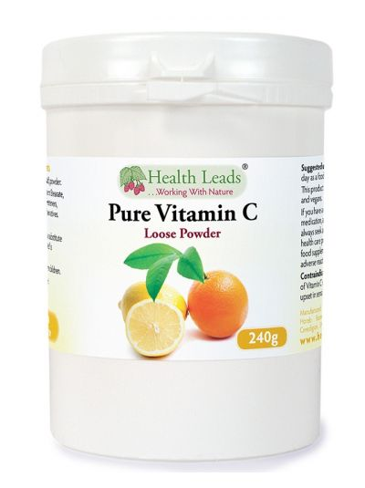 HEalth LEads Vitamin C (Ascorbinsäure) Pulver 240g