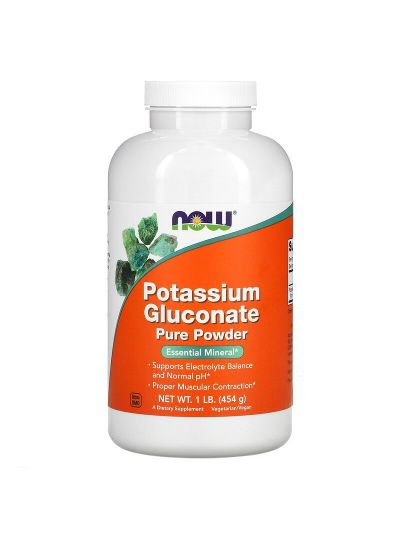 Now Foods, Reines Kaliumgluconat, 100% reines loses Pulver, 454 g